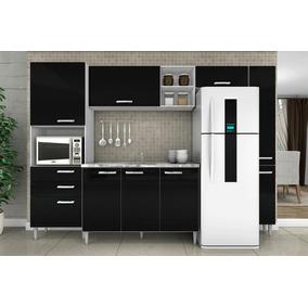 Cozinha Compacta Natália 5 Peças Poquema Balcão Armário