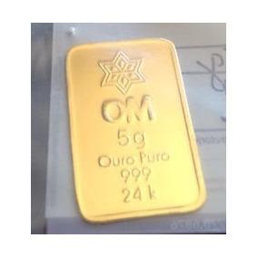 Barra Ouro Puro 24k - 999 -5g Com Certificado De Pureza
