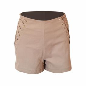 Shorts Social Cintura Alta Com Ziper