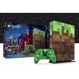 Consola Xbox One S 1tb Minecraft Creeper Nueva Sellada