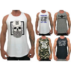 2e9697bf65a0c Regata Cavada Oversized - Camisetas para Masculino no Mercado Livre ...