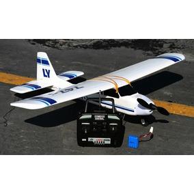 Avião Lanyu Cessna 747 Azul 4ch Rtf Tw-747-i Aeromodelo
