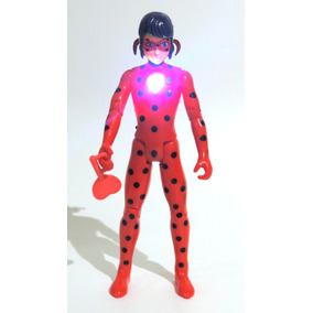Boneca Ladybug Miraculous Articulada Acende E Toca Música