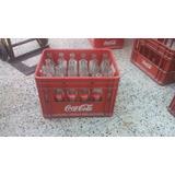 Cajon Coca Cola De Bar Con Envases Vacios Retornables De 350