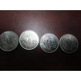Monedas 1 Peso Morelos Metal Años 1984 1985 1986 Y 1987
