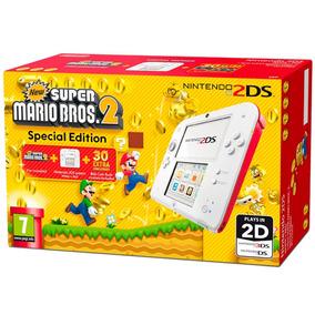 Console Nintendo 2ds Branco Bundle Mario Bros 2 Original