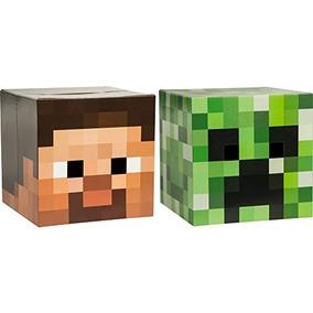 Traje Cabeza Minecraft Máscara Set (steve Y La Enredadera)