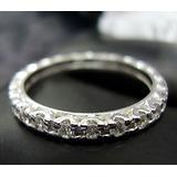 Aliança De Diamantes Em Ouro Branco 18k 750 Jóia Rara !!!