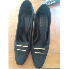 Zapatos De Mujer De Vestir De Gamuza T. 37 Guido Gabrielli