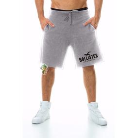 Bermuda Moletom Hollister Masculina Shorts Academia Promoção
