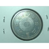 Japão- Espetacular Moeda De Prata, 50 Sen 1922-26 #0138