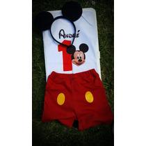 Pañaleros Personalizados Mickey Mouse Gratis Orejitas