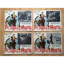 4 Lobby Cards Profugo De Muerte Ty Hardin Rennie Mitchel .