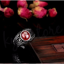Anillo Caballero Red Stone Acero Inoxidable 316 Biker Rocker