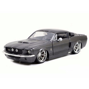 Ford Mustang Shelby Gt500 1967 Grafite 1:24 Jada 97401