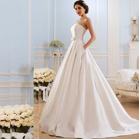 Vestido De Novia Princesa Nuevo Marfil Y Blanco Con Bolsillo