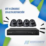 Kit 4 Cámaras En Alta Definición Fhd 1080p, No 720p, Real Hd