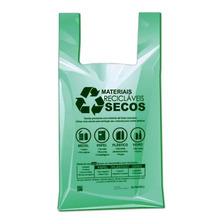 500 Sacola Plástica Grande 48x55 Bio Preserve Cor Verde
