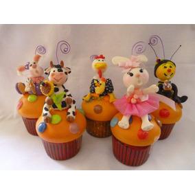 Cupcakes De Ceramica Decorados Con Pasta Flexible