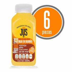 Naranja-piña Probiótico Caja 6 Pza Bebida Cold Press 350ml