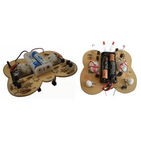 2 Kit Para Armar Robots Mariposas Seguir Líneas Negras Y Luz