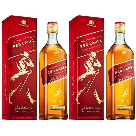 Whisky Johnny Walker Red Litro 2 Botellas Envio Gratis Caba