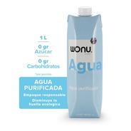 Wonu Water, Agua Natural, Eco-empaque, 1l (12 Piezas)