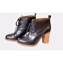 Bota Feminina Cano Curto Ankle Boot Couro Animal Legítimo