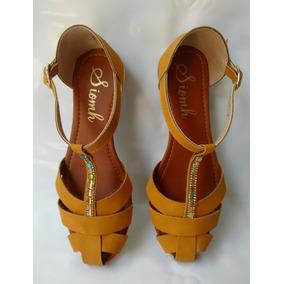 Coleccion Sandalia Miel Para Mujer Calzado Moda Envio Gratis