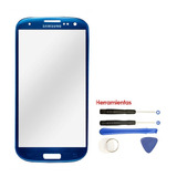 Galaxy S3 Cristal Digitalizador Azul Gorilla Glass + Kit