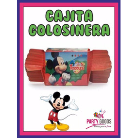 Mickey Cajita Golosinera C/forma De Caramelo - Envíos!!!