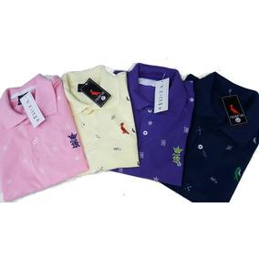 Kit 5 Camisa Camiseta Gola Polo Masculina Blusa Barata