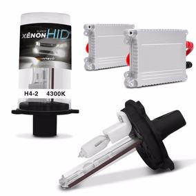 Kit Xenon H4-2 4300k Carro Lampada Luz Branca Farol Milha