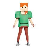 Disfraz De Minecraft Alex Classic, Multicolor, Grande (10-12