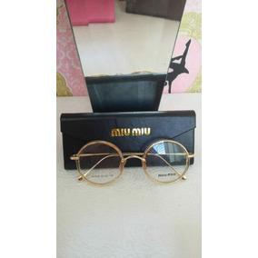 Armação Óculos De Grau Da Miu Miu Linda Muito Chique A465 - Óculos ... 45dbb0605b