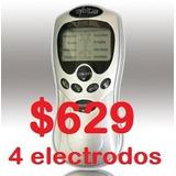 Electroestimulador Portatil 4 Electrodos Fitnes Adelgazar