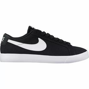 Zapatillas Nike Sb Blazer Vapor Cnvs Txt Lona Negra Original