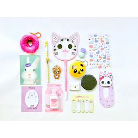 Kawaii Box Cute Artículos Papeleria Caja Japonesa 14 Pz Moda