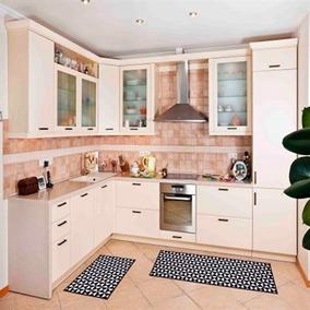 Tapete Para Cozinha 70x50 Cm Branco E Preto