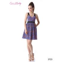Lindo Vestido Ever Pretty Em Microfibra Mod 3723- No Brasil