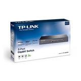 Tl-sg1008 Switch Tp-link 8 Puertos Gigabit Para Rack Metalic