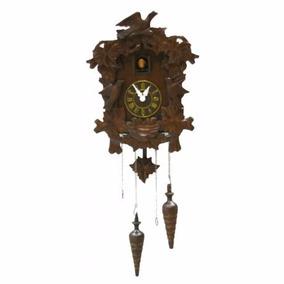 Reloj Cucu Musical En Madera Tipo Antiguo Con Pendulo