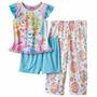 Pijama De 3 Piezas Niñas - Princesas Palace Pets
