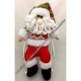 Boneco Pelúcia Pequeno Papai Noel Com Cadeira Balanço Natal