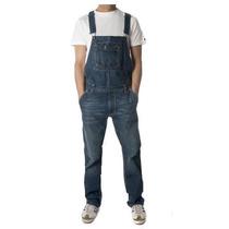 Macacão Jardineira Homens Skiny Jeans Masculino