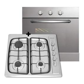 Combo Cocina Anafe + Horno Domec Multigas Acero Envio Gratis