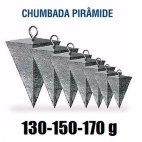 Kit Chumbada Pesca Praia Pirâmide 12 Peças 130-150-170 Gr