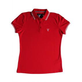 Camisa Pólo Manga Curta Cor Principal Vermelho Femininas em Paraná ... f8e38f611988f