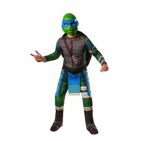 Disfraz De Tortuja Ninja Leonardo Azul Halloween Fiesta Rubi