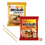 Kit 02 Lamen Coreano Neoguri Frutos Do Mar Hot Mild + 2hashi
